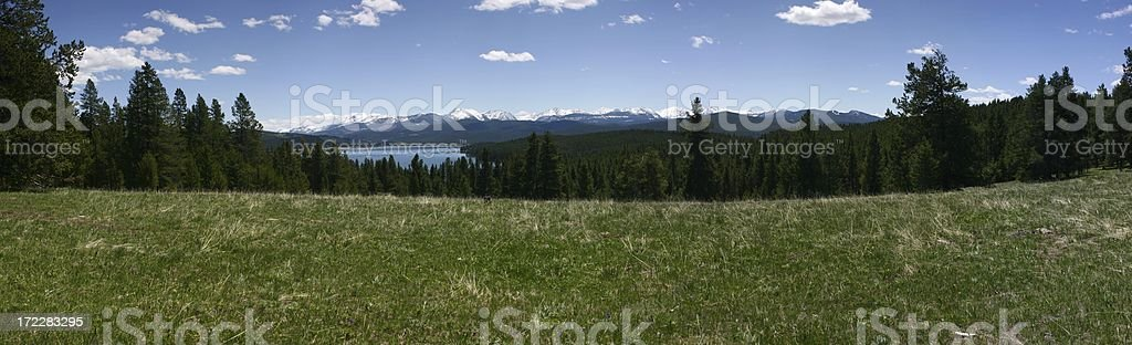 Georgetown Lake View From Meadow Pano1 royalty-free stock photo