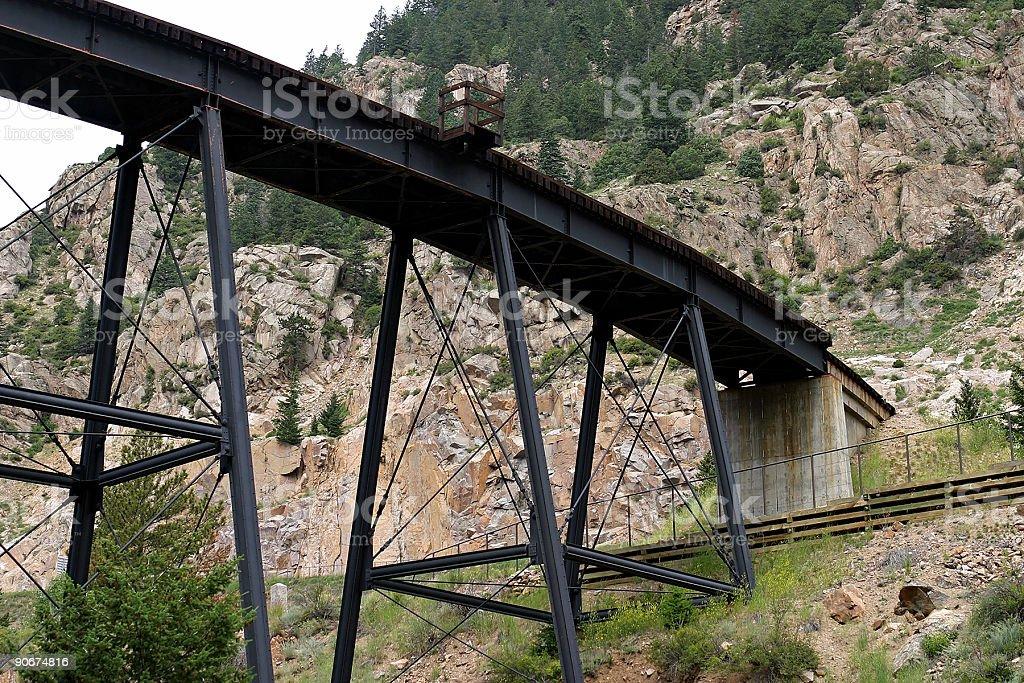 Georgetown Loop bridge stock photo