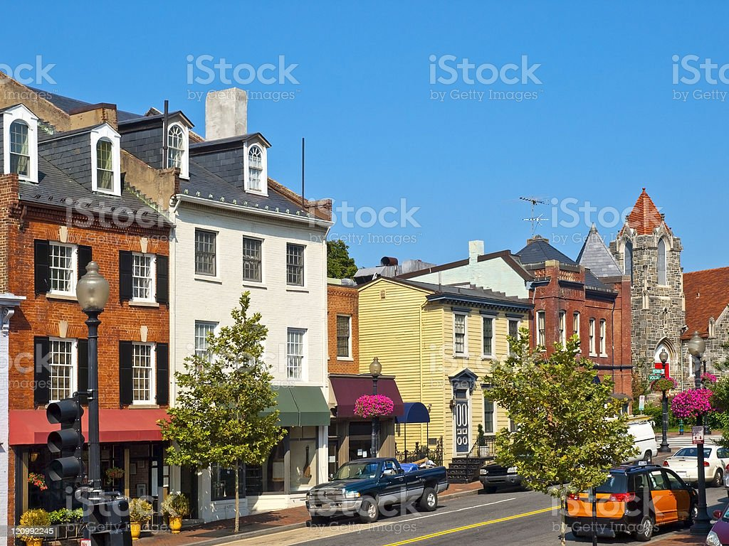 Georgetown Streets stock photo