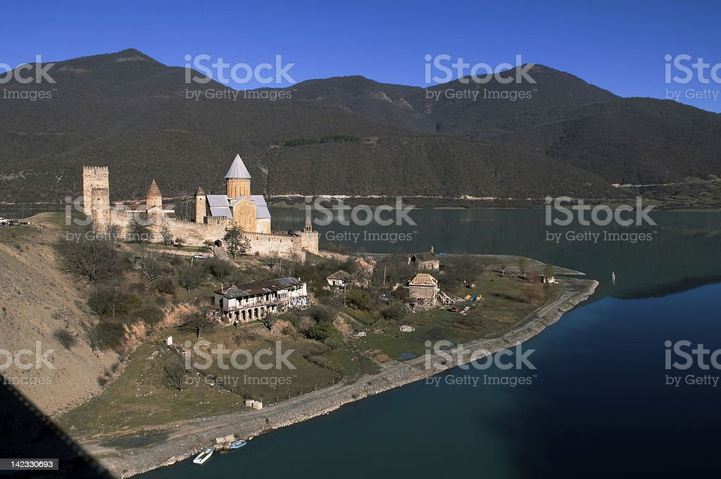 Georgia - castle Ananuri royalty-free stock photo