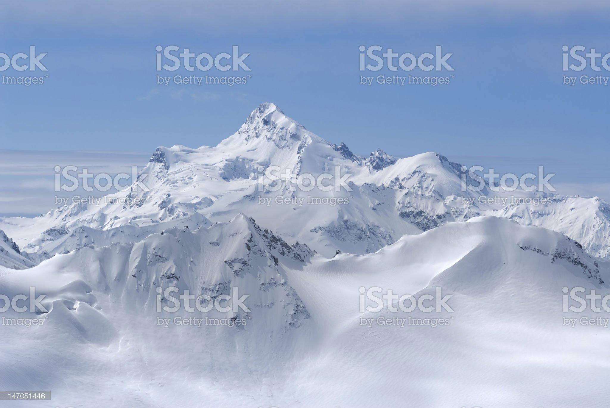 Georgia. Caucasus. Shdavleri Mount view from Elbrus royalty-free stock photo