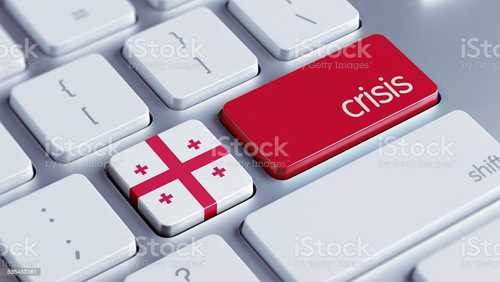 Georgia Crisis Concept stock photo