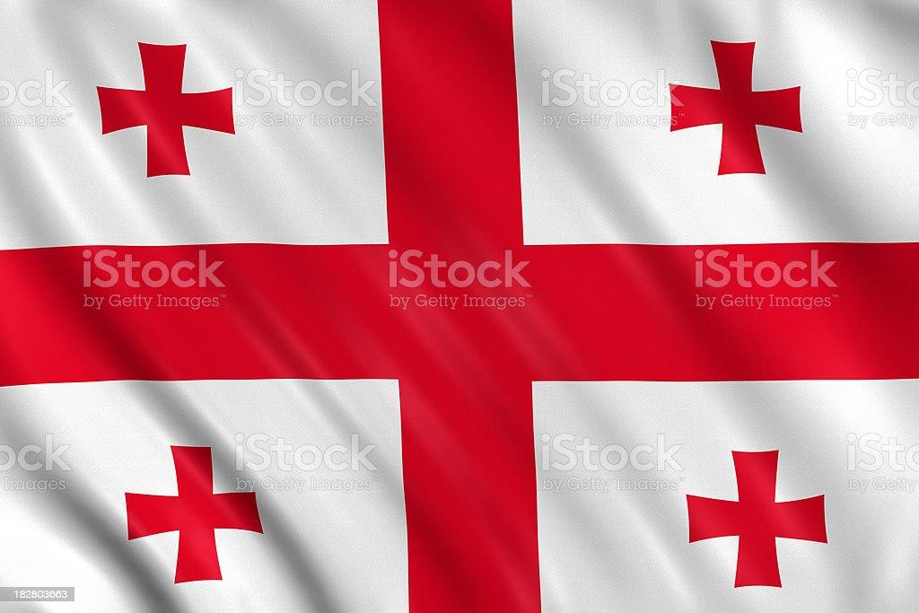 georgia flag royalty-free stock photo