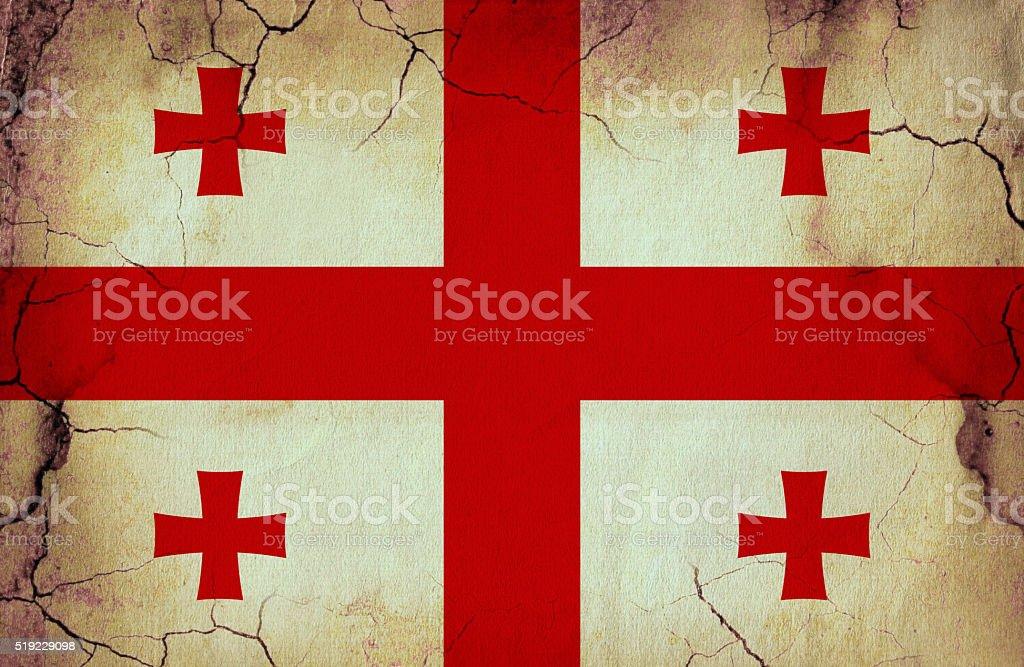 Georgia grunge flag stock photo