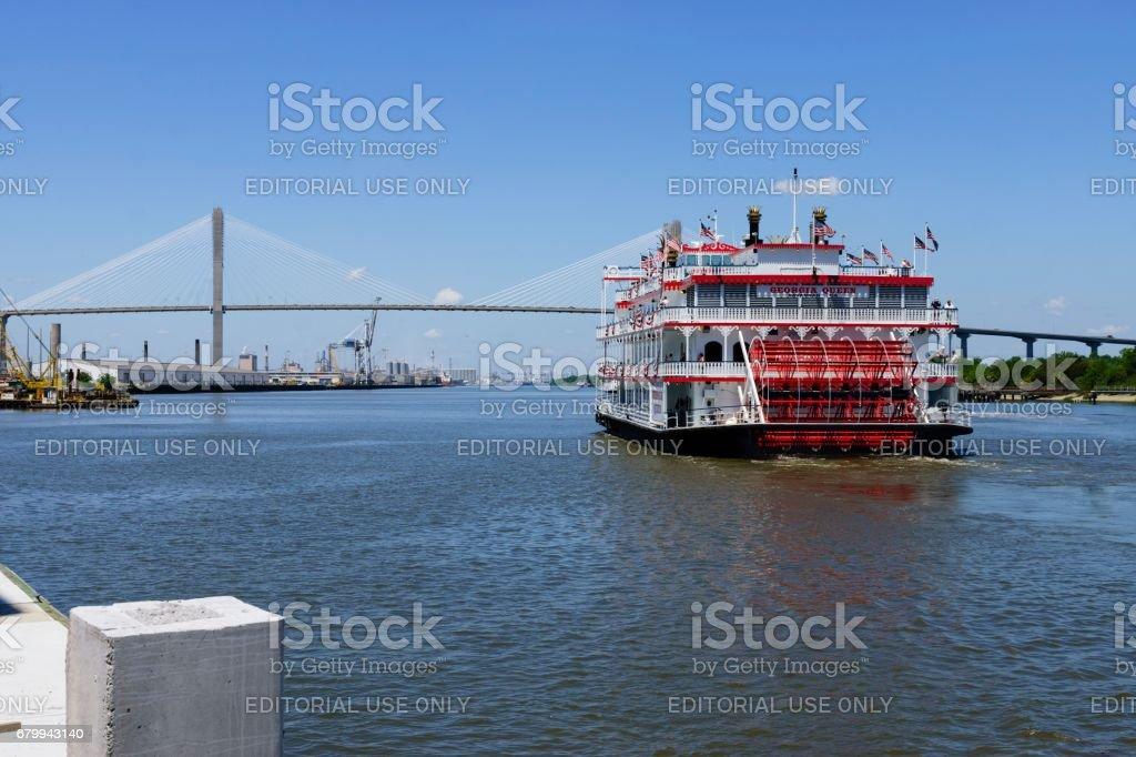 Georgia Queen Riverboat in Savannah stock photo