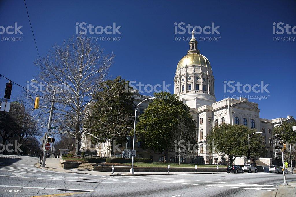 Georgia State Capitol, Atlanta (USA) royalty-free stock photo