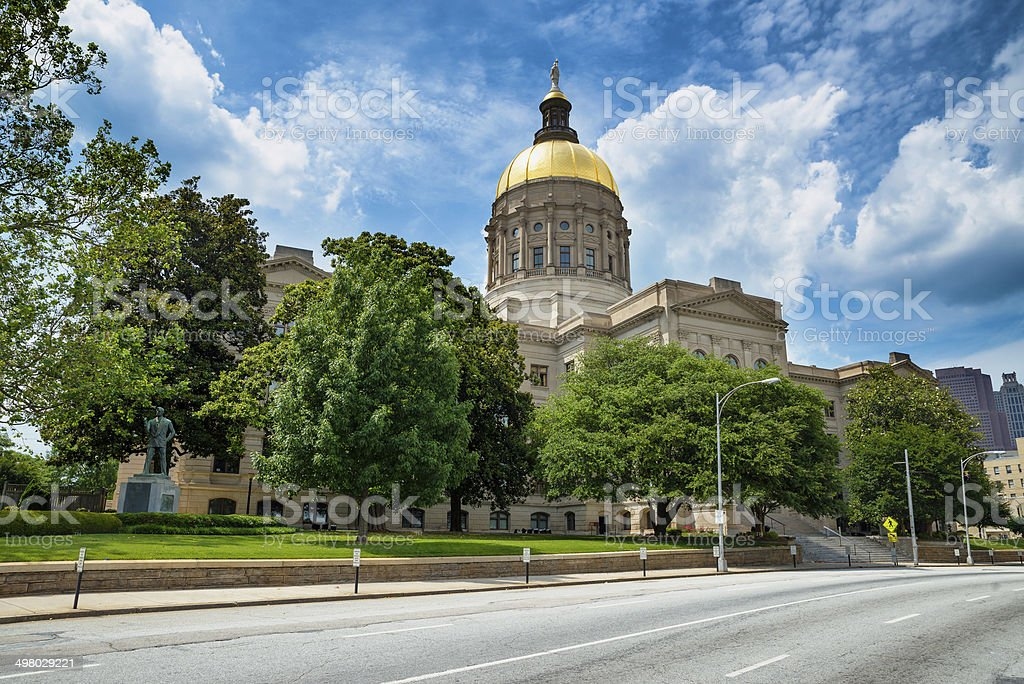 Georgia state capitol building in Atlanta stock photo