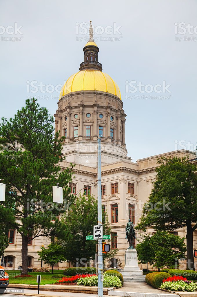 Georgia State Capitol building in Atlanta stock photo