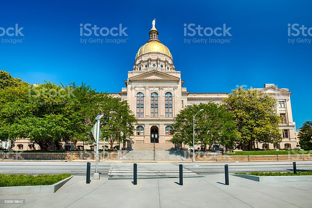 Georgia State Capitol Building stock photo