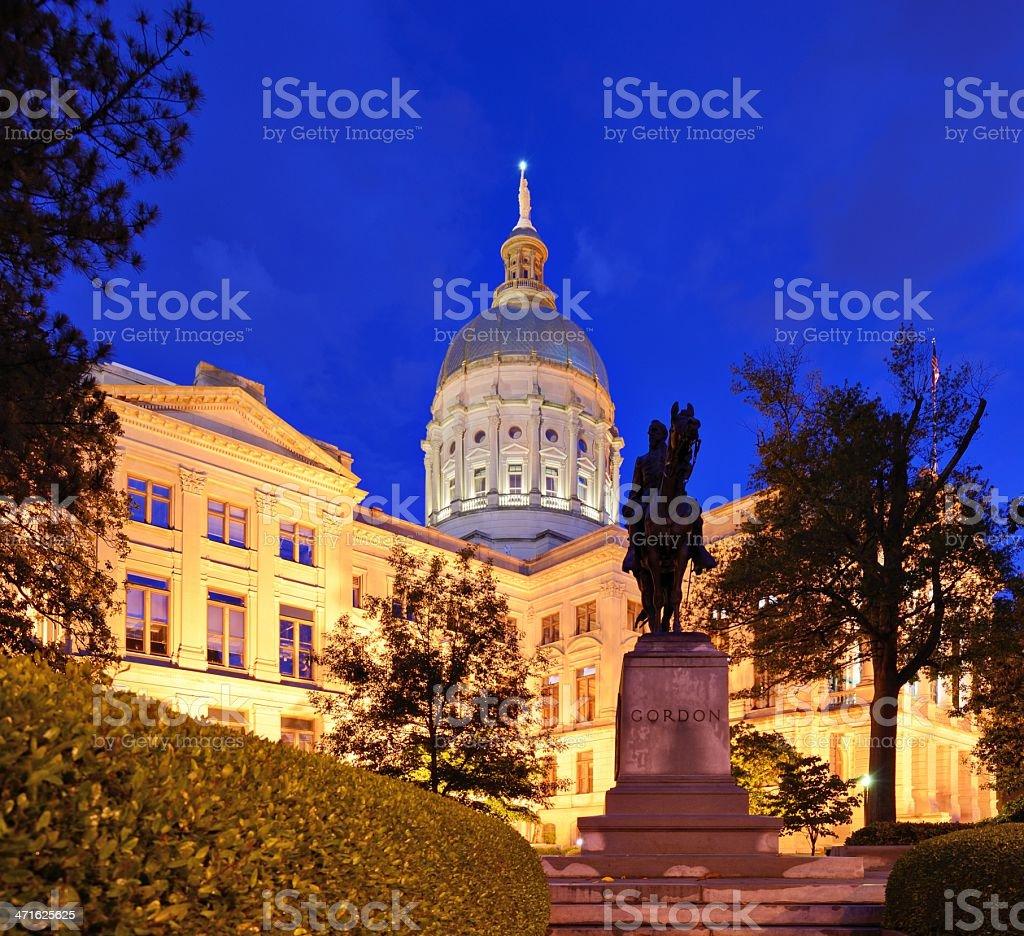 Georgia State capitol royalty-free stock photo
