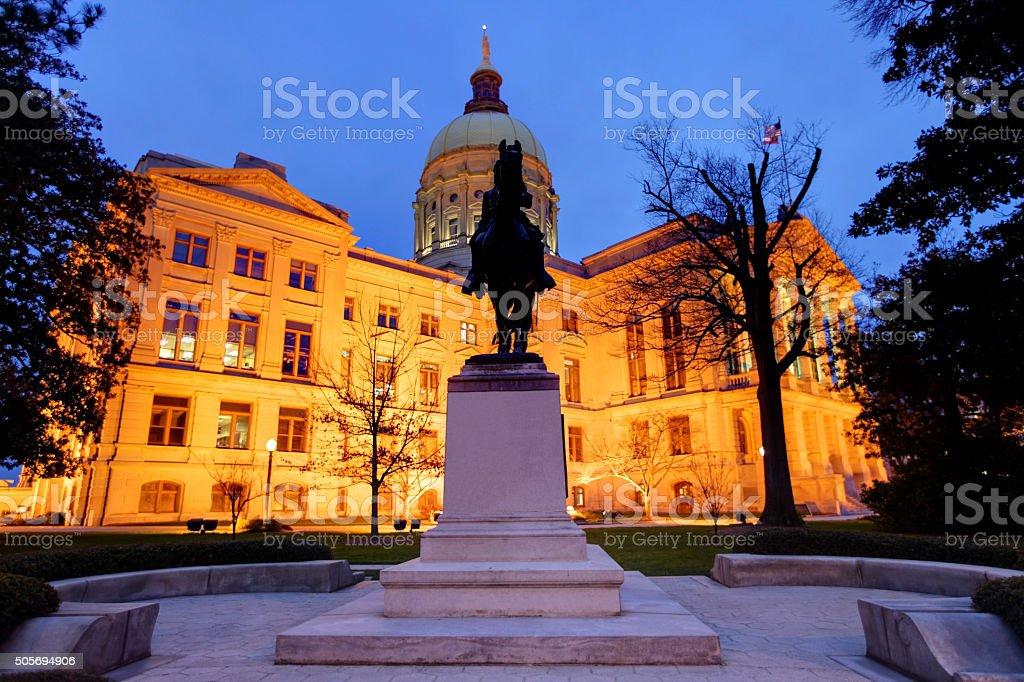 Georgia State Capitol stock photo
