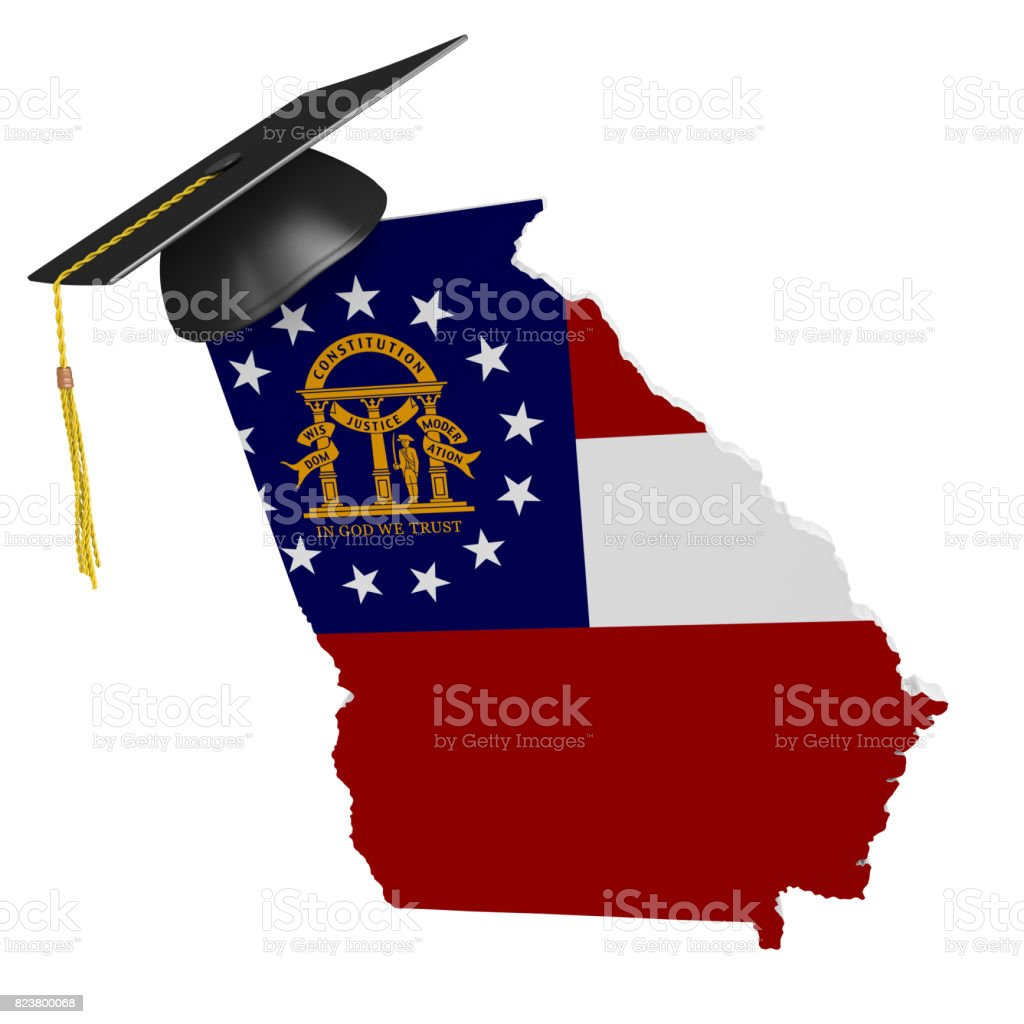 Georgia state college and university education concept, 3D rendering stock photo