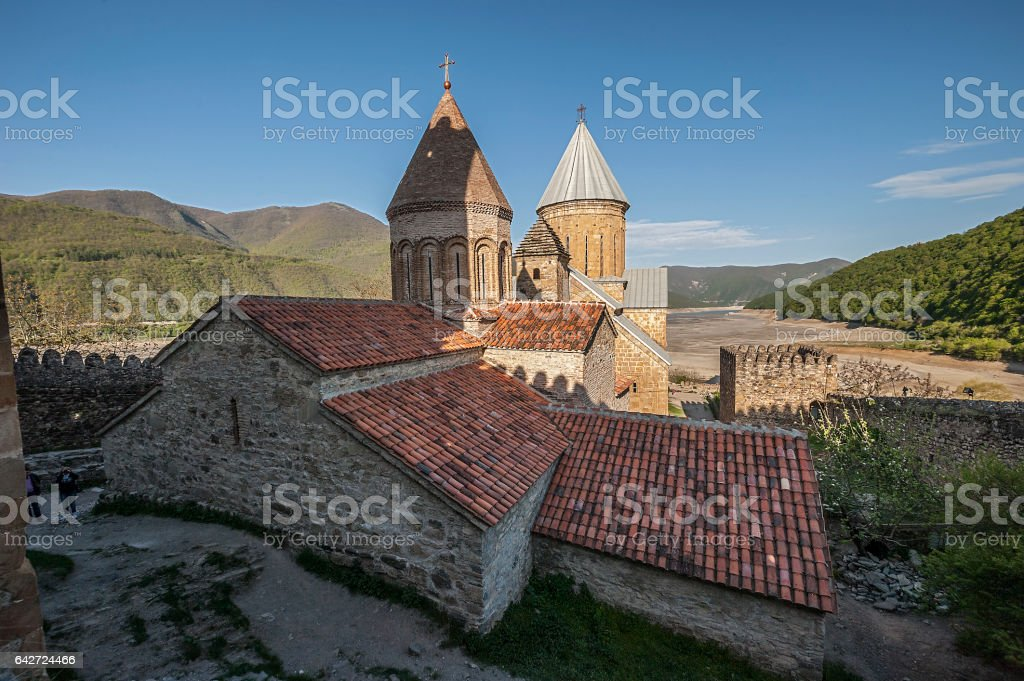 Georgia. The fortress and temple Ananuri stock photo