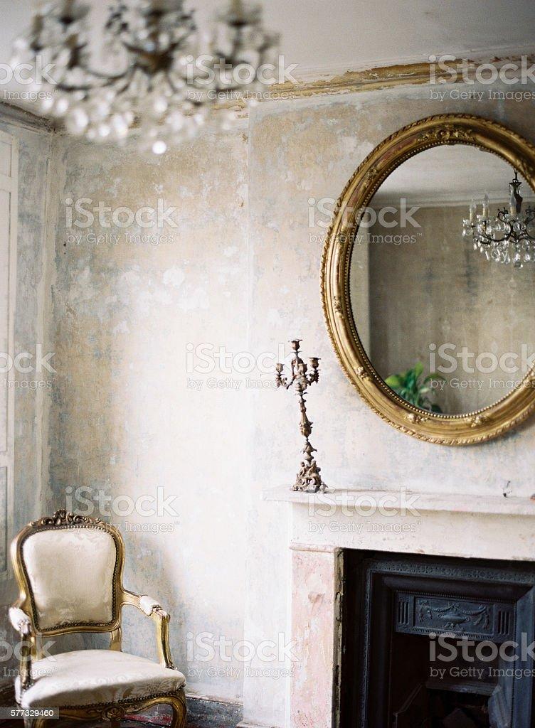 Georgian architecture and decor stock photo