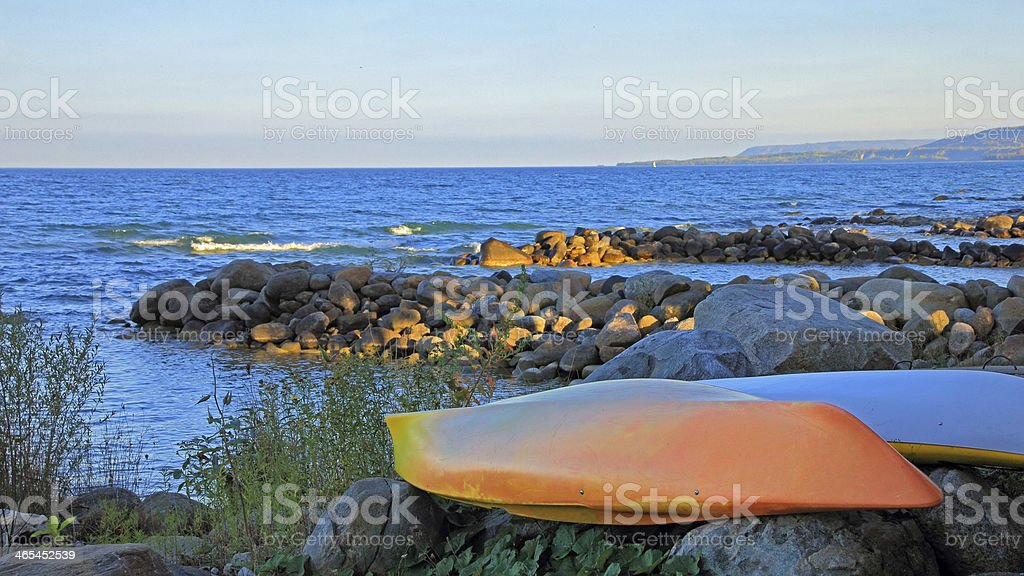 Georgian Bay Beach stock photo