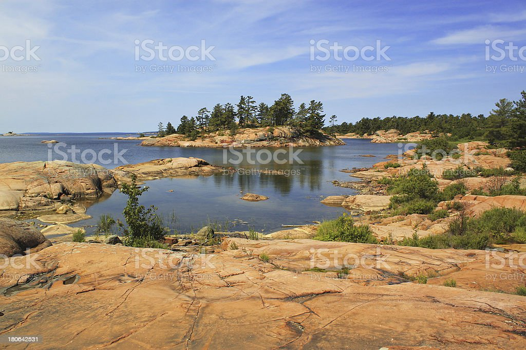 Georgian Bay islands, Killarney Provincial Park, Ontario, Canada royalty-free stock photo