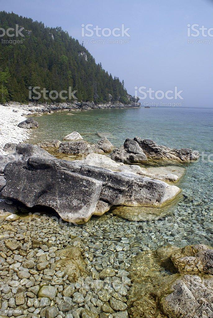 Georgian Bay Shoreline royalty-free stock photo