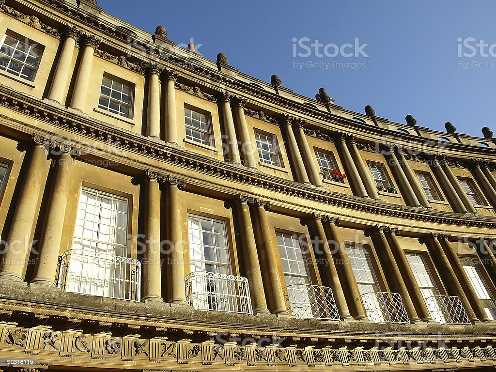 Georgian Crescent stock photo