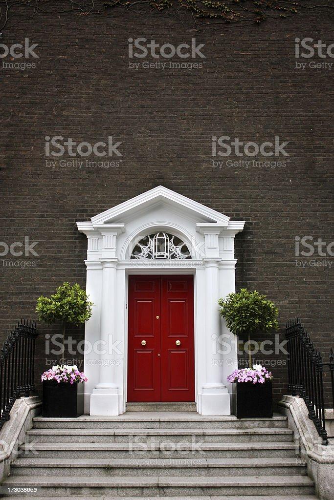 Georgian Door with copyspace royalty-free stock photo