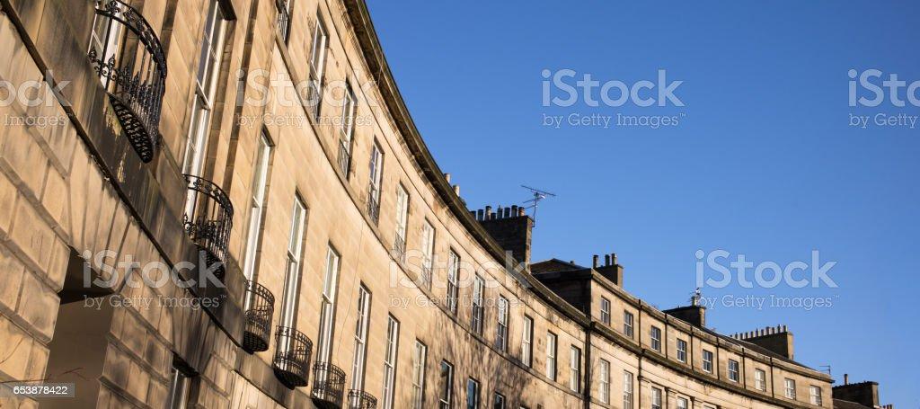 Georgian Edinburgh - New Town apartment stock photo