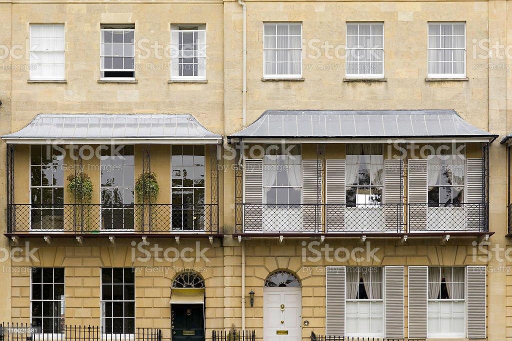 Georgian Facade royalty-free stock photo