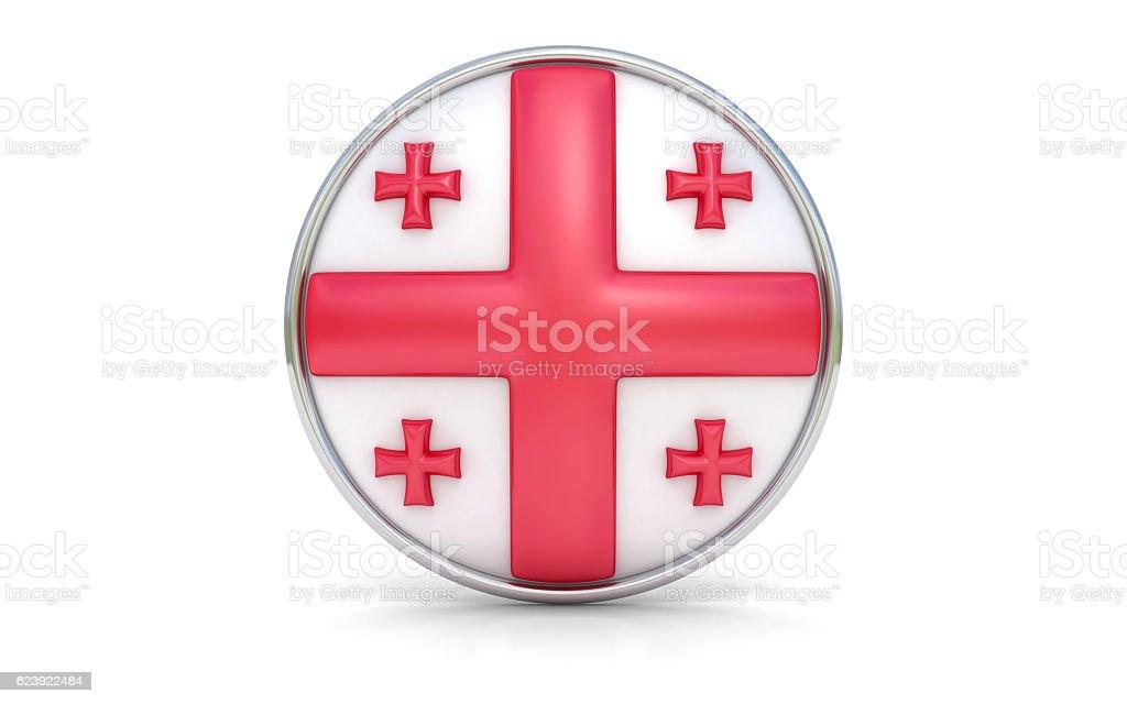 Georgian flag stock photo