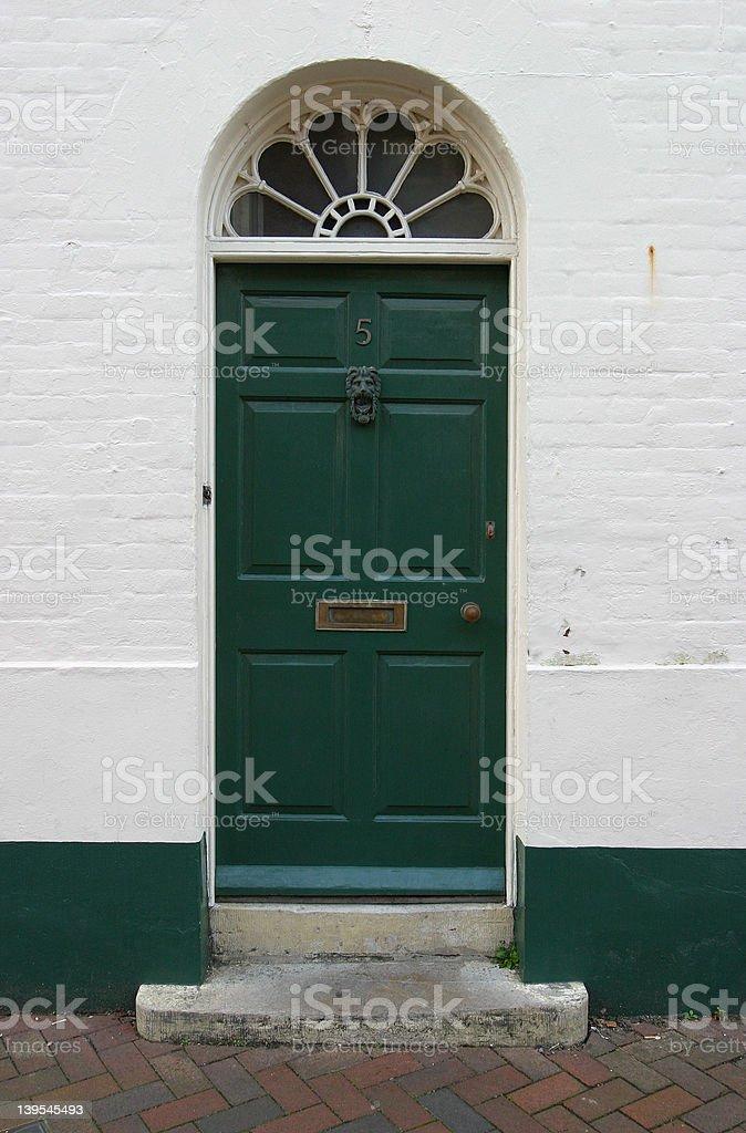 Georgian Front Door, Dorset, England royalty-free stock photo