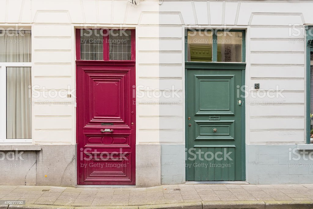 Georgian Front Doors stock photo