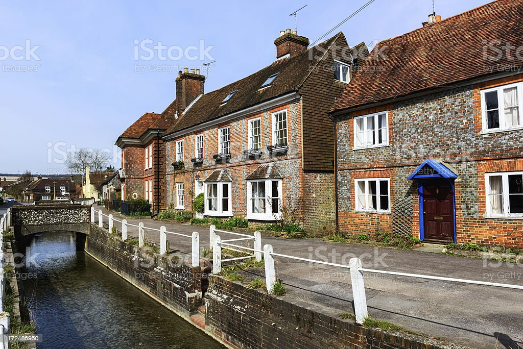 Georgian houses in East Meon, Hampshire, England royalty-free stock photo