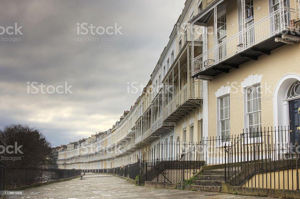Georgian Houses royalty-free stock photo