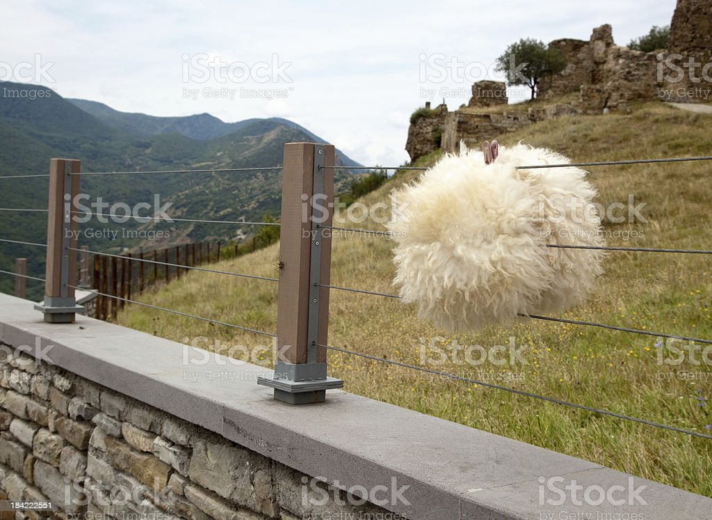 Georgian national headdress stock photo