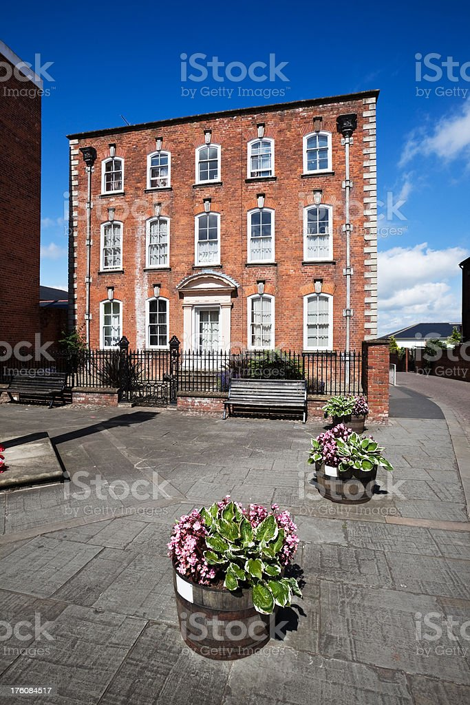 Georgian Office Building in Ludlow royalty-free stock photo