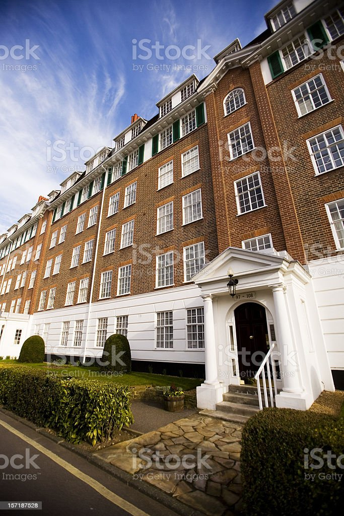 Georgian period apartments in a desirable district of West London stock photo