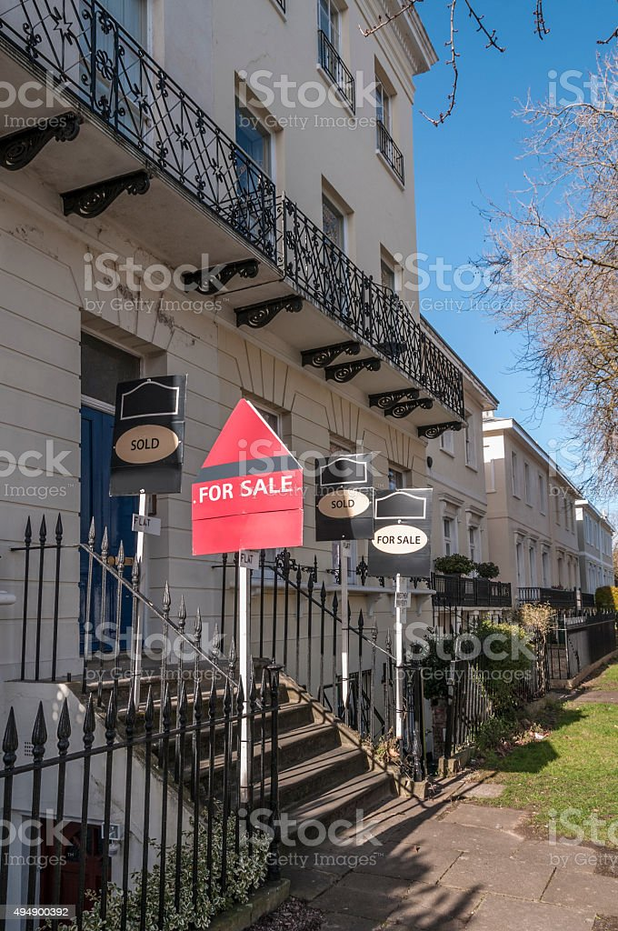 Georgian Style Homes For Sale In England royalty-free stock photo