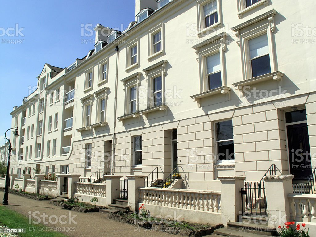 Georgian Terraced Houses royalty-free stock photo
