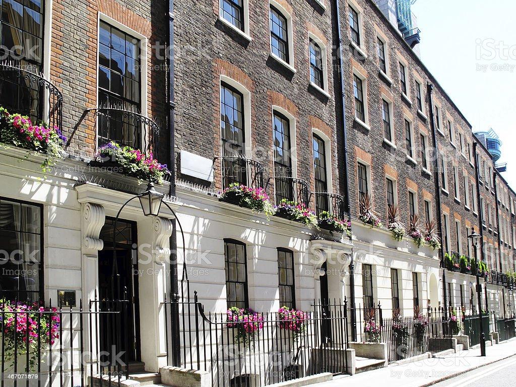 Georgian Terraced Houses stock photo