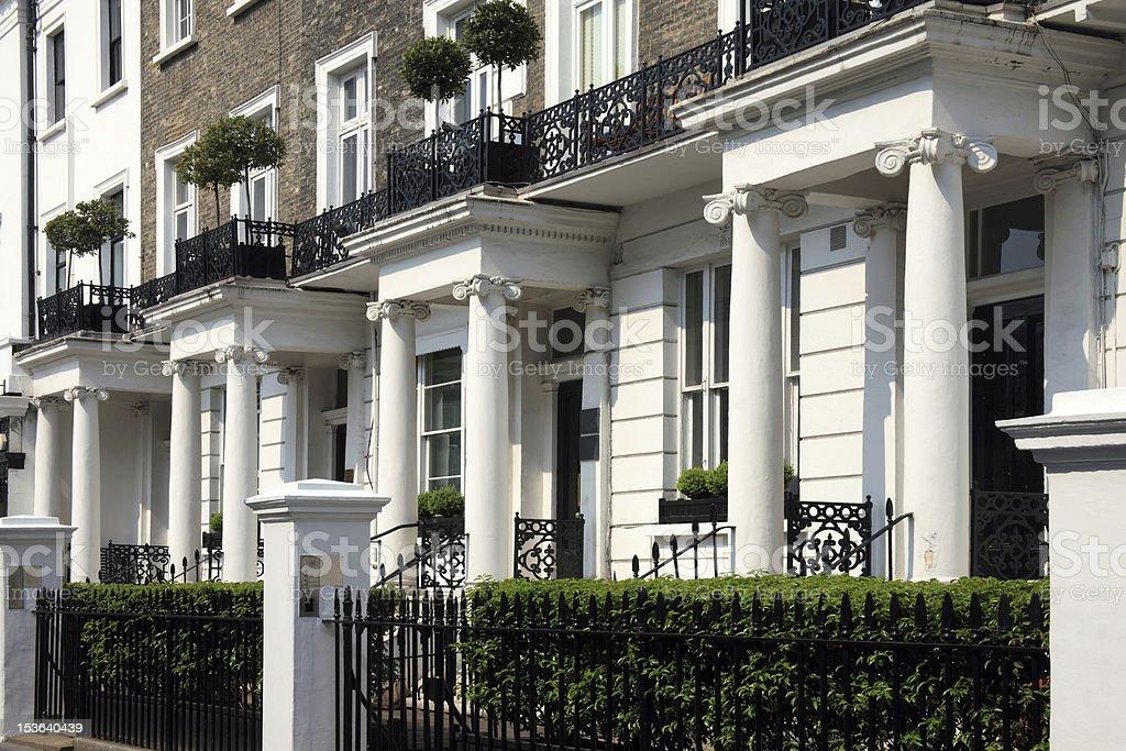 Georgian Terraced Town Houses royalty-free stock photo