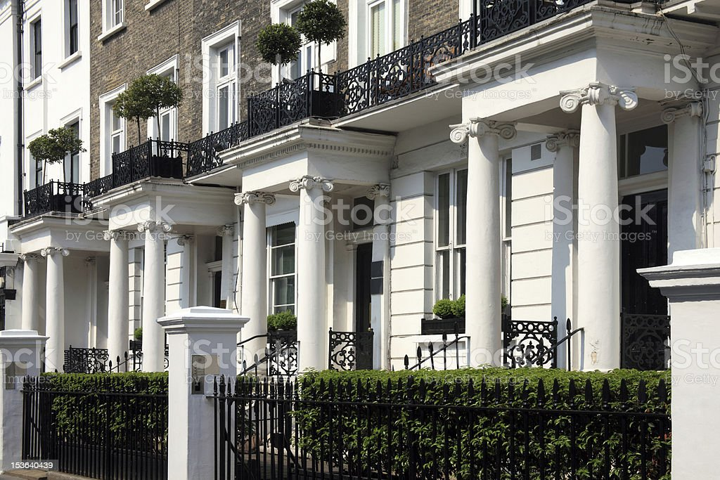 Georgian Terraced Town Houses stock photo