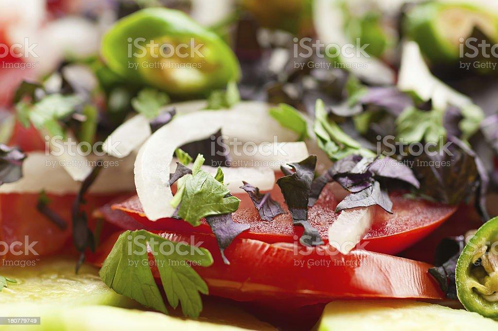 Georgian vegetable salad royalty-free stock photo