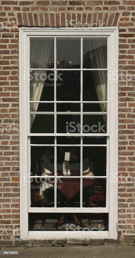 Georgian window stock photo