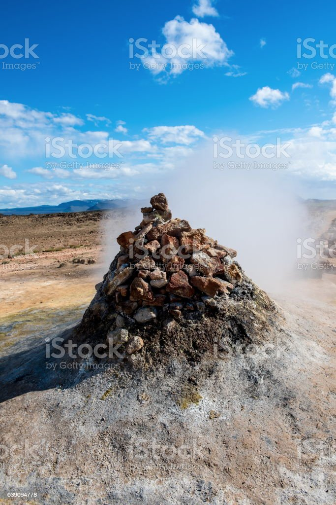 Geothermal area Hverir, Iceland stock photo
