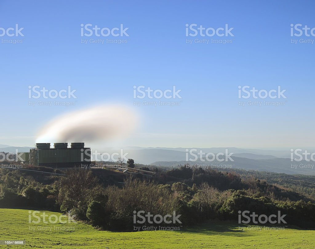 Geothermal energy. A power station for sustainable electricity production. royalty-free stock photo
