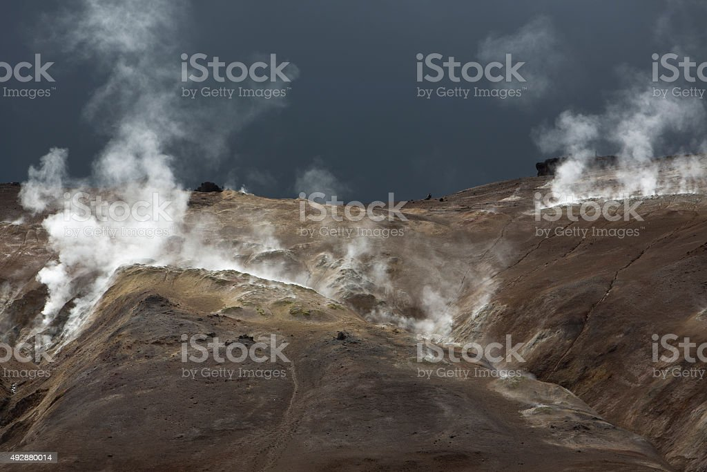 geothermal energy in iceland stock photo