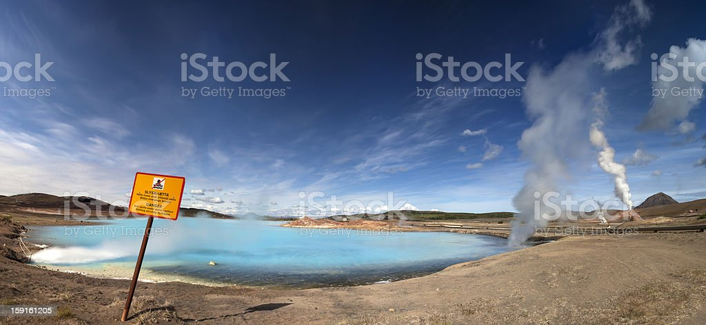 Geothermie in Iceland XXXL  Panorama royalty-free stock photo