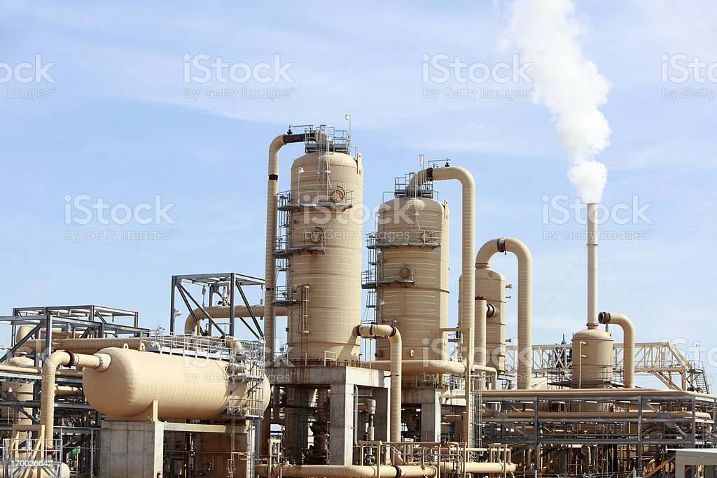 Geothermal Energy Plant stock photo