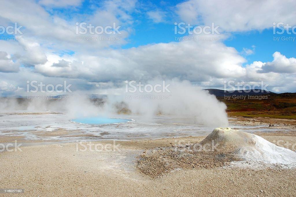 Geothermal field Hveravellir royalty-free stock photo