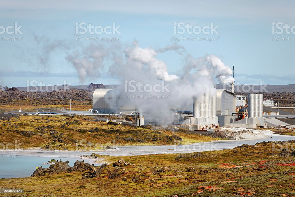 Geothermal field of Gunnuhver, Iceland stock photo