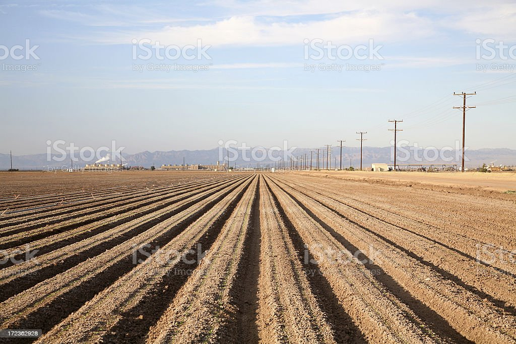 Geothermal Generator and Agriculture Imperial Valley California stock photo