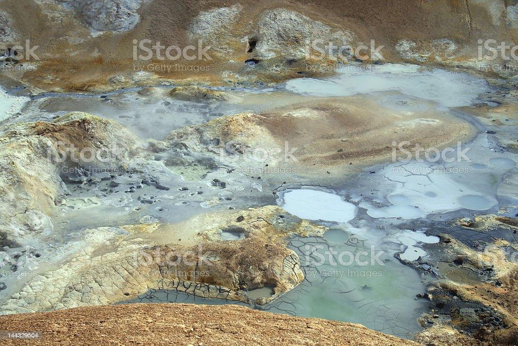 geothermal landscape iceland stock photo