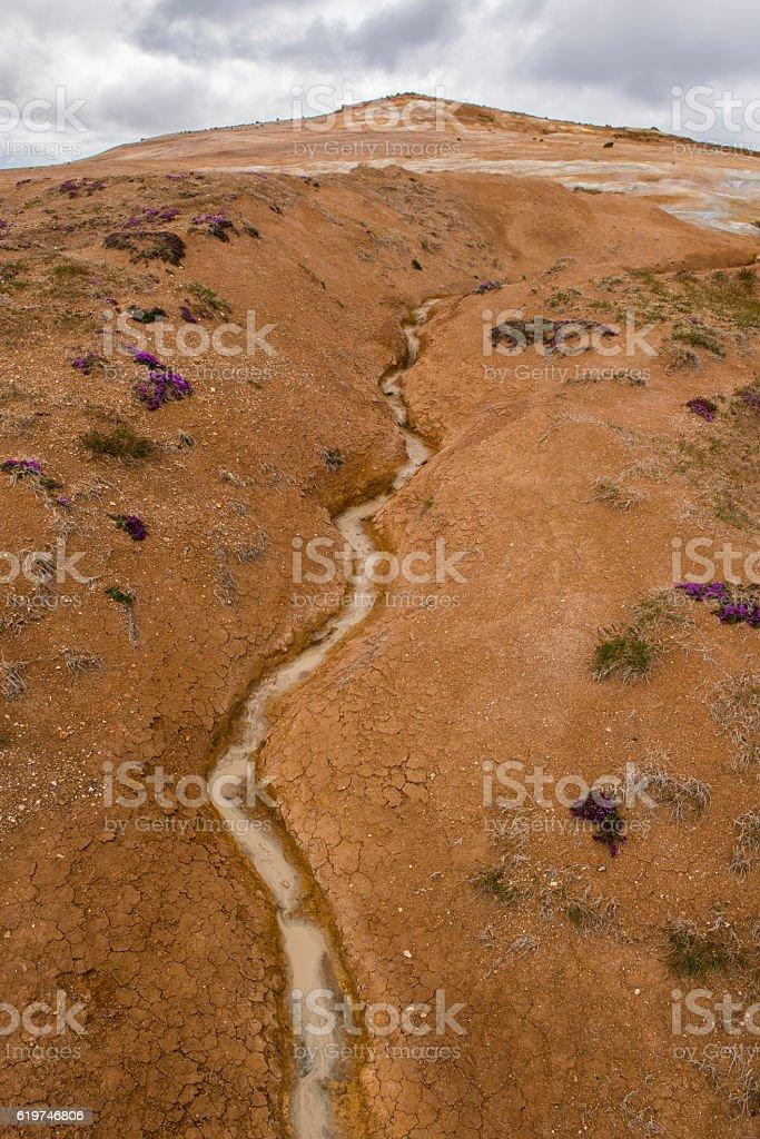 Geothermal Landscape Krafla stock photo
